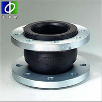 supply dn32-2000mm epdm rubber flexible joints with flange end