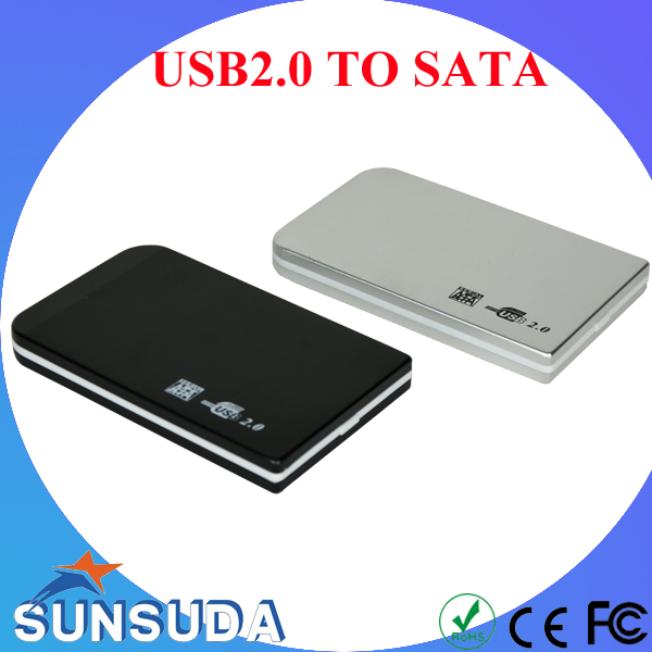 External Hard Drive Case 2.5inch USB2.0 TO Sata HDD Enclosure Support HD externo 1TB above