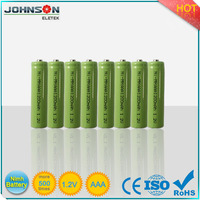 high quality nimh aaa rechargeable battery 1.2v