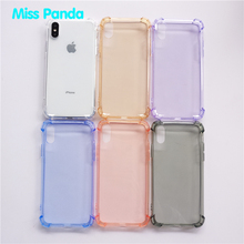 Luxury Crystal Transparent Reinforced Corners Shockproof TPU Phone Case For iphone X 5 6 7 8 PLUS