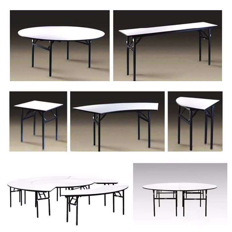 Laminate Folding Restaurant dining banquet table set on sale