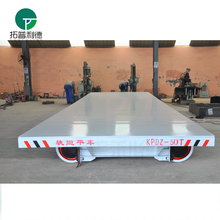 Large Capacity 150T electric flatbed rail car with alarm system