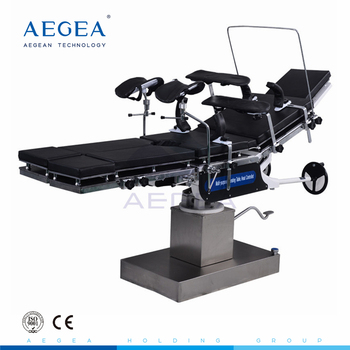 AG-OT013 clinical used black adjustable surgery hydraulic operating table manufacturer