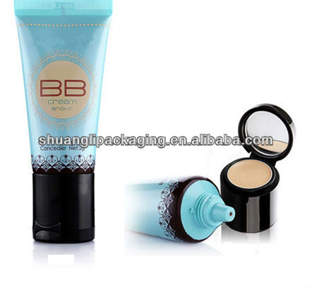 Cosmetic Packaging with Mirror Cap for Foundation and Concealer(New Design)