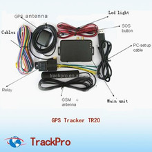 GPS SMS tracker tr20 with remote control Free web version software support both TCP and UDP socket communication