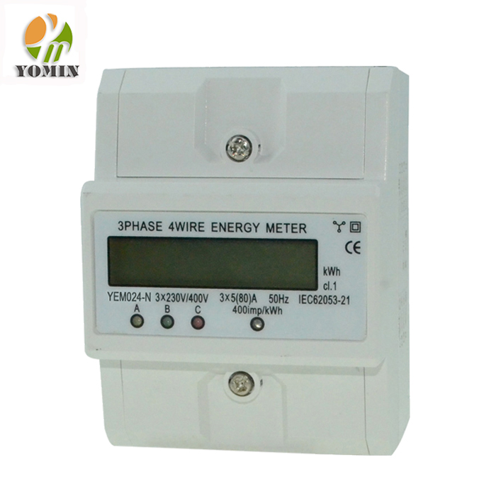 YEM 024-N New Type Three Phase Din Rail Digital Electric Energy Meter