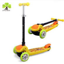 factory price pu flashing mute wheel adjustable mini kids scooter /kids balance scooter cheap sale
