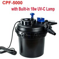 2015 NEW SUNSUN CPF-5000 3500 GPH Backwash Pressurized Bio Pond Filter with 18W UV Sterilizer Clarifier USA