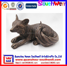 cheap 2015 custom fox figurines for home garden decoration