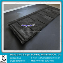 Roofing Underlayment Flat Stone Coated Metal Roofing Tile