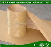 sliced soild natural carbonized vertical bamboo veneer for longboard skateboards
