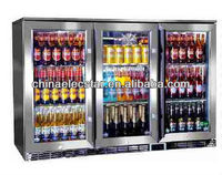 3 SELF-CLOSING hinged glass doors Back Bar Cooler