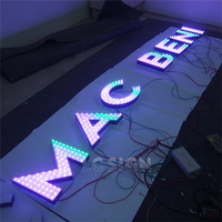 2016 popular led frontlit channel letter signs,decorative metal led alphabet letters with waterproof led strip