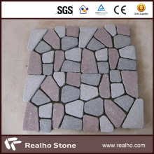Mixed Color Irregular Shaped Granite Paver for Outdoor Paving