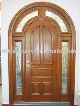 Real photo arched armored door buy armored door villa for Arcos de madera para puertas