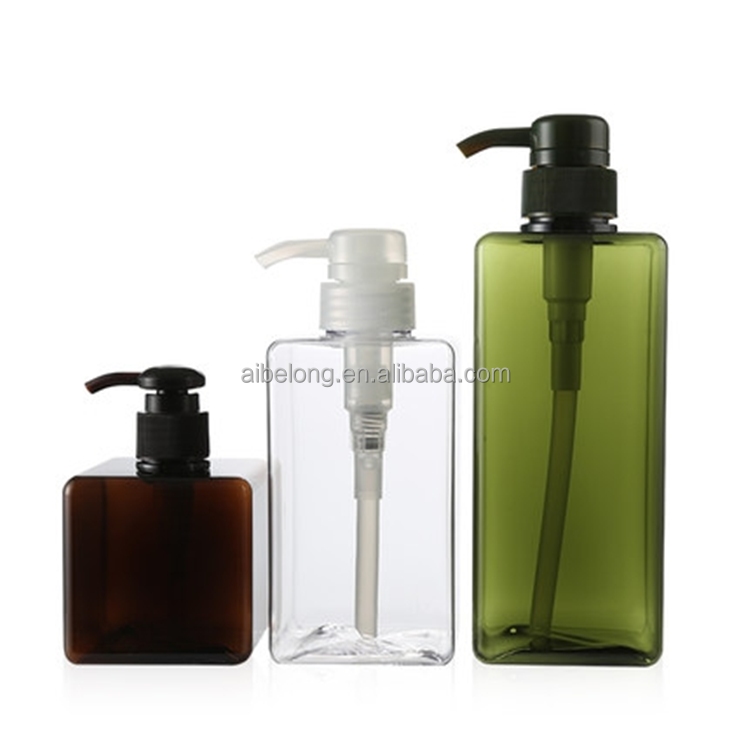 IBELONG high quality 250ML 450ML 650ML Square PETG plastic cosmetic refill bottle