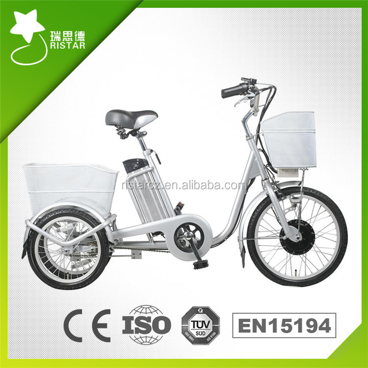 Mini 20/16inch 250W 36V three wheel electric motor bike for old man