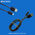 Wholesale 2A Strong Round Metal Spring Data Line for iphone Micro Type C USB Charger Cable