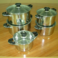 good quanlity 10pcs stainless steel cookware set