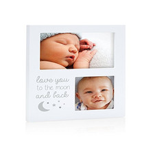 Baby Child Grow Souvenir Wooden White Collage Picture Photo Frame