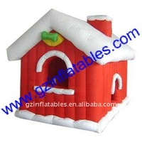 QI Ling pretty Xmas decoration inflatable house for gift