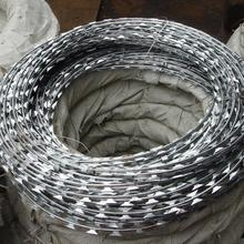 high quality electro/hot dipped galvanized concertina razor wire/razor barbed wire from factory