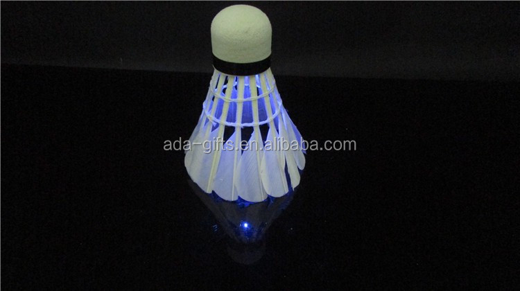 Custom Class A Natural Goose Feather LED Badminton Tournament Shuttlecock
