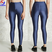 Wholesale clothing ladies satin high waist stretch skinny slimming pants