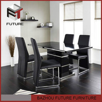 MDF wood modern dining room furniture dining table set