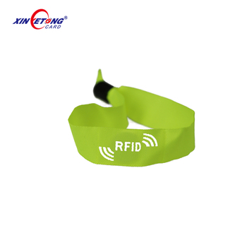 Wholesale custom logo printing cheap promotional woven bracelets fabric wristbands for events or festivals