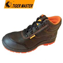 PU artificial leather PU sole TPU reinforced toe to protect working safety shoes