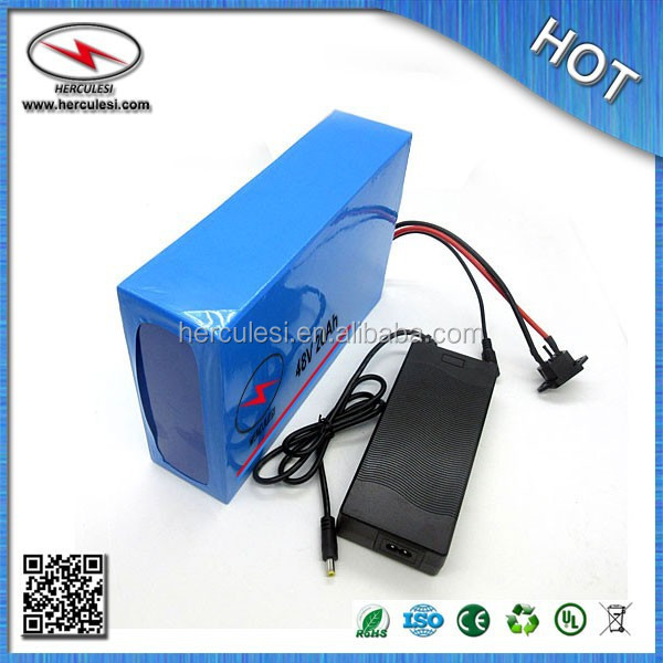48v e bike battery / electric vehicle battery 48v 20ah / 1000W Lithium Ion Battery 48V 20AH with PVC Case ,BMS