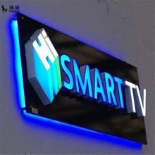 3d led backlit stainless steel number custom 3d signs
