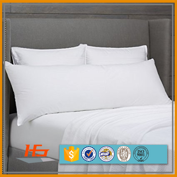 100% Polyester Microfiber Pure Sublimation Blank White Body Pillow Cover
