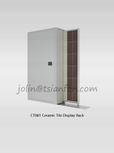 CT081--Bathroom tile floor display unit/Ceramic tile display rack