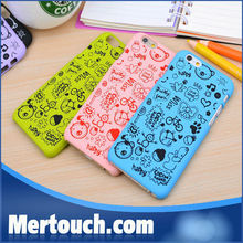 for iphone6 hard PC phone case with small hag used oil printing brightness