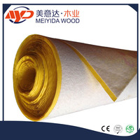 Non-woven acoustic flooring underlayment