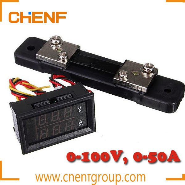 China Manufacture DC 4.5-30V 50A shunt Volt Amp Voltmeter Ammeter Digital Voltage Current Meter