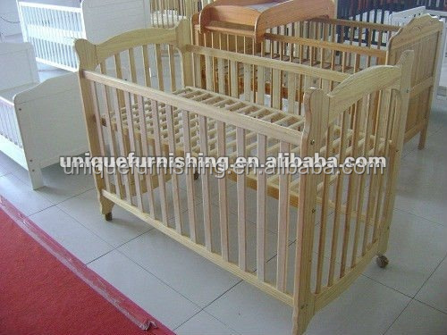 Wood baby cribs with wheels for baby product buy wood for Baby bed with wheels