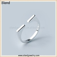 alibaba latest finger rings design ,coolman jewelry open style men's sterling silver rings jewellery made in China