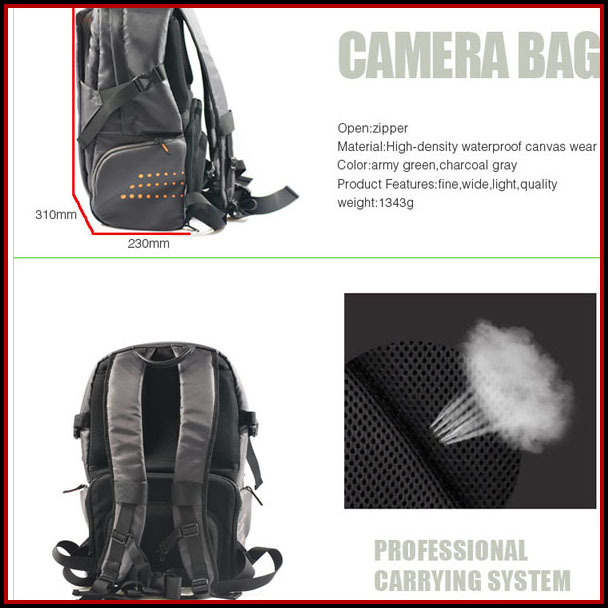 Functional dslr Strong Nylon Fabric Waist leather camera bag for samsung nx300
