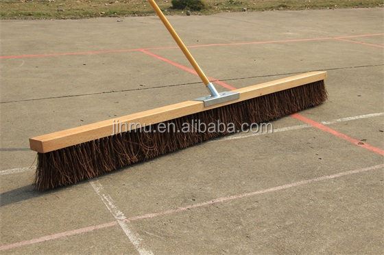 JM-806 long wood handle floor brush for street and house cleaning