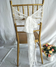 Popular Cheap White Lace Chair Sashes Wedding