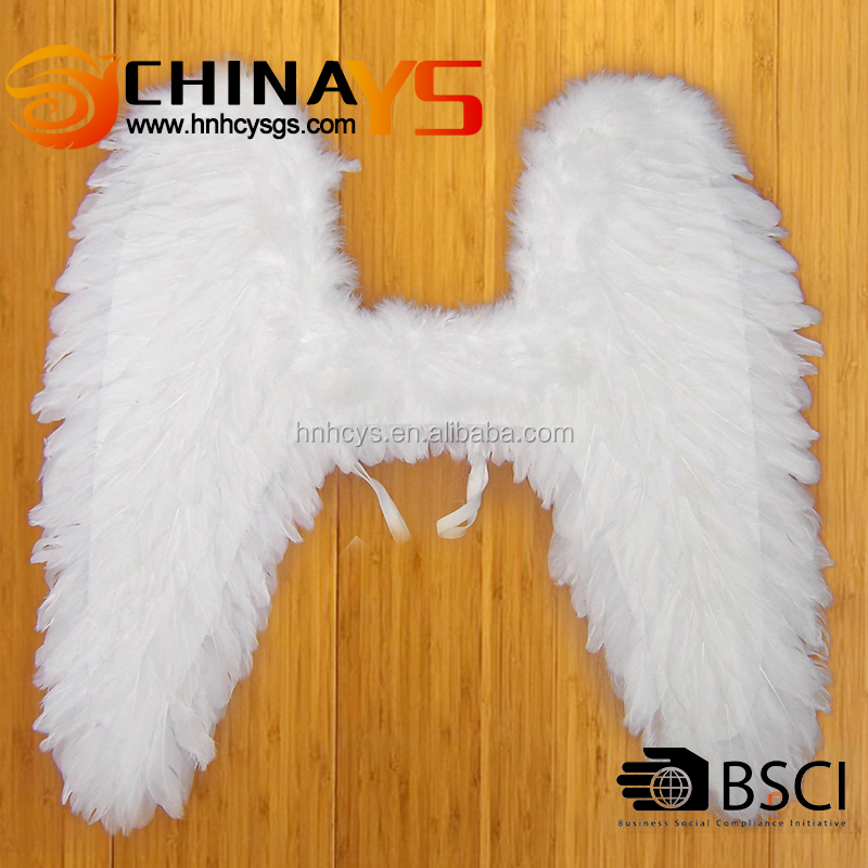 BSCI audit Pure white cupid angel feather wings YS-8039 62x60CM