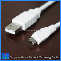 High quality white 5pin micro USB charging cable