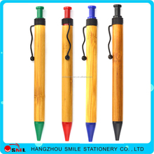low price recycle ballpoint pen bamboo roller pen for promotion