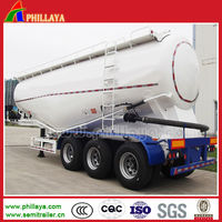 Large loading capacity factory supply used bulk cement trailers with diesel engine pump