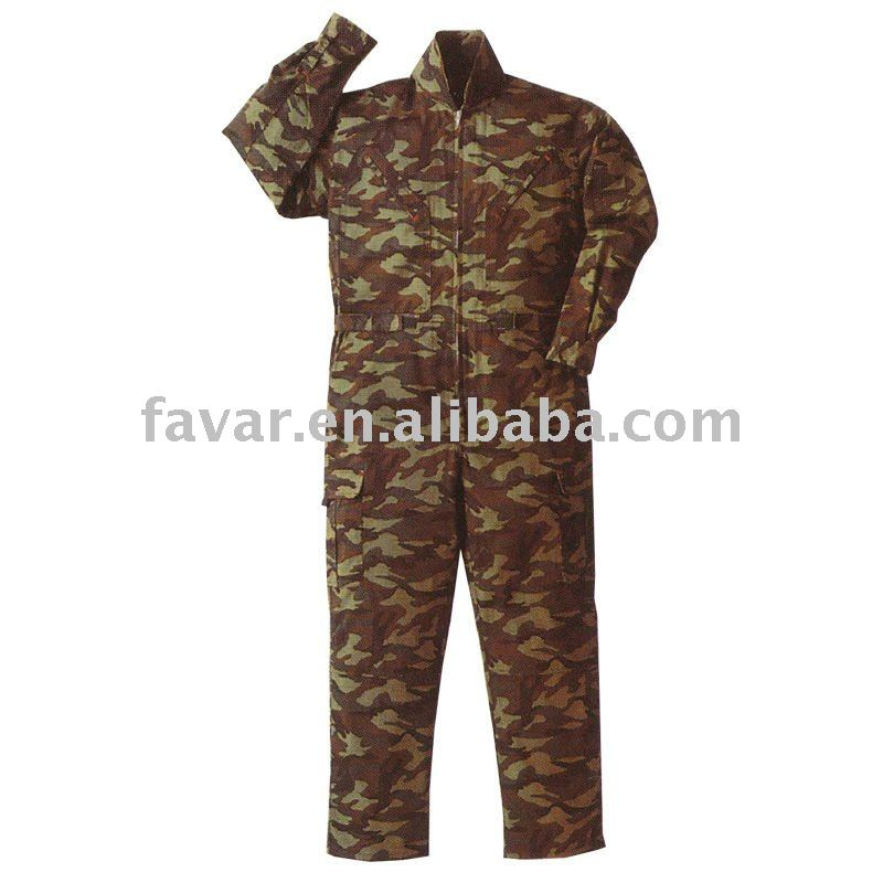 Polyctoon army overalls and coverall suit