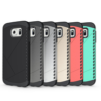 Mobile phone case for Samsung S6, two in one Armor phone cover for Samsung S6