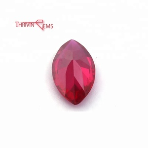 Wholesale red synthetic ruby gemstone loose gemstone